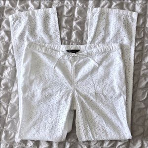 Victoria's Secret white eyelet pants size 4